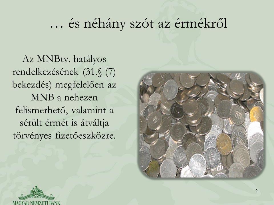 … és néhány szót az érmékről Az MNBtv.