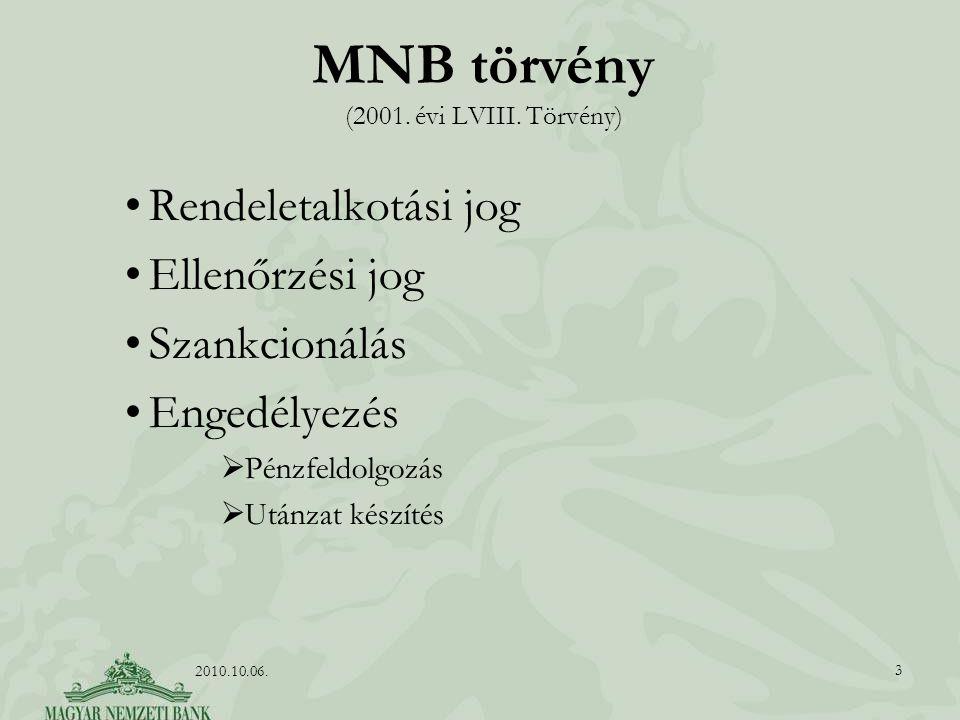 MNB törvény (2001.évi LVIII.