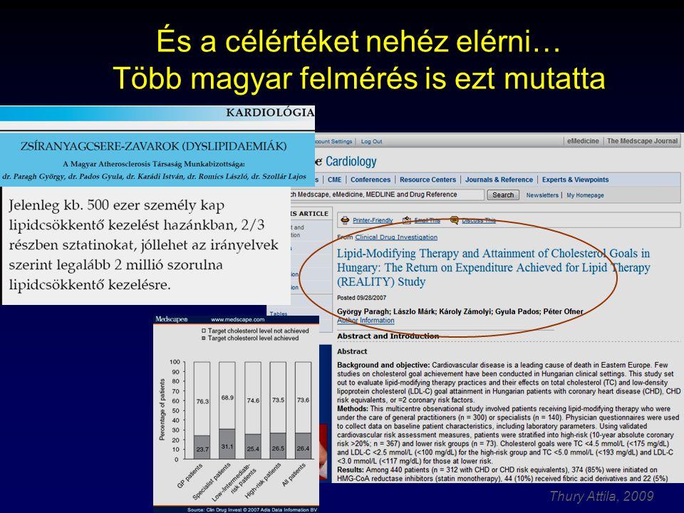 Thury Attila, 2009 És a célértéket nehéz elérni… Több magyar felmérés is ezt mutatta