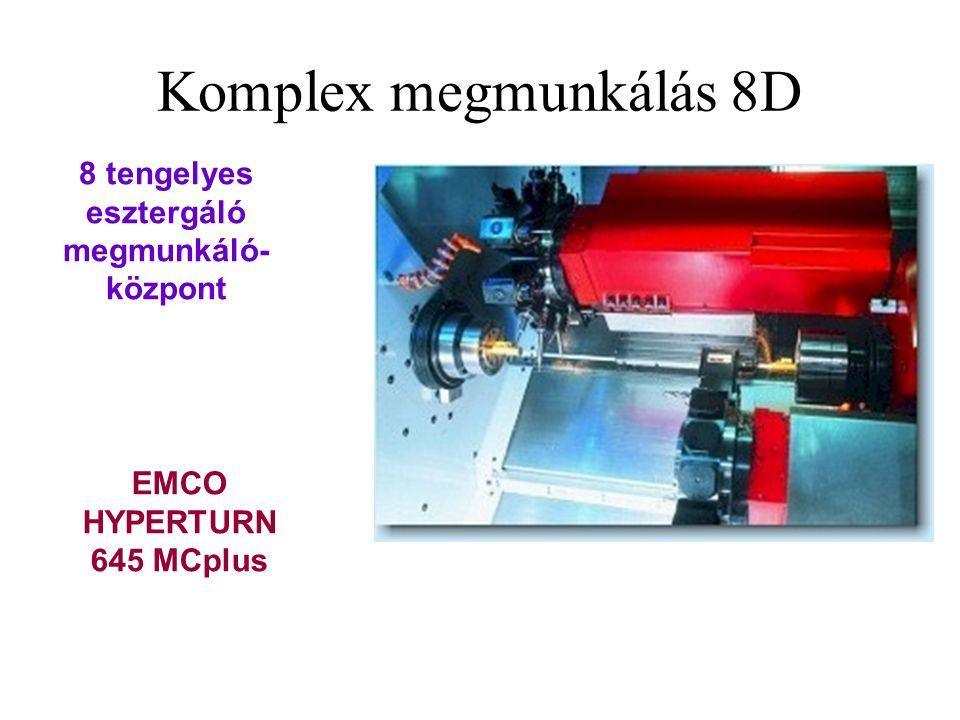EMCO HYPERTURN 645 MCplus 8 tengelyes esztergáló megmunkáló- központ Komplex megmunkálás 8D