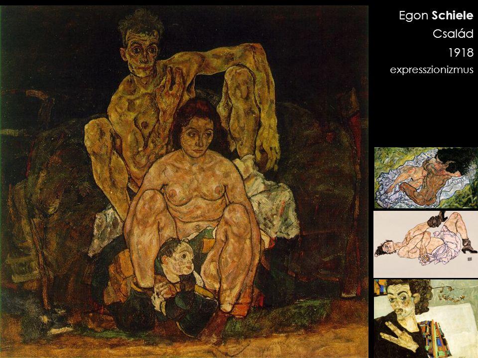 Egon Schiele Család 1918 expresszionizmus