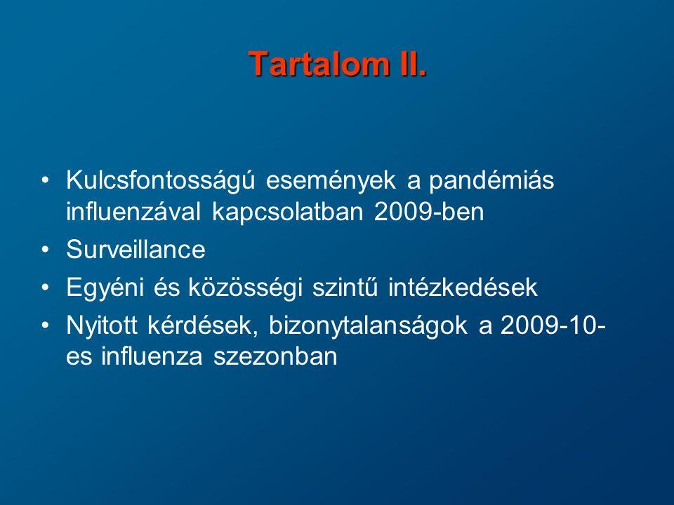 WHO készültségi szintek az influenza világjárványra - fázisbeosztás Inter-pandémiás időszak 1.