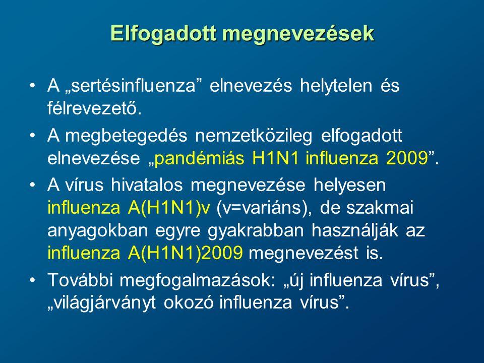 Alapvető epidemiológiai jellemzők Szezonális influenzaPandémiás H1N1 influenza 2009 A vírusAz előző influenza szezonhoz képest csak kismértékben változik a vírus genetikai állománya (drift) Nagyfokú genetikai változás eredményeként lényegében egy új influenzavírus jelenik meg (shift), amely képes hatékonyan terjedni emberről emberre.