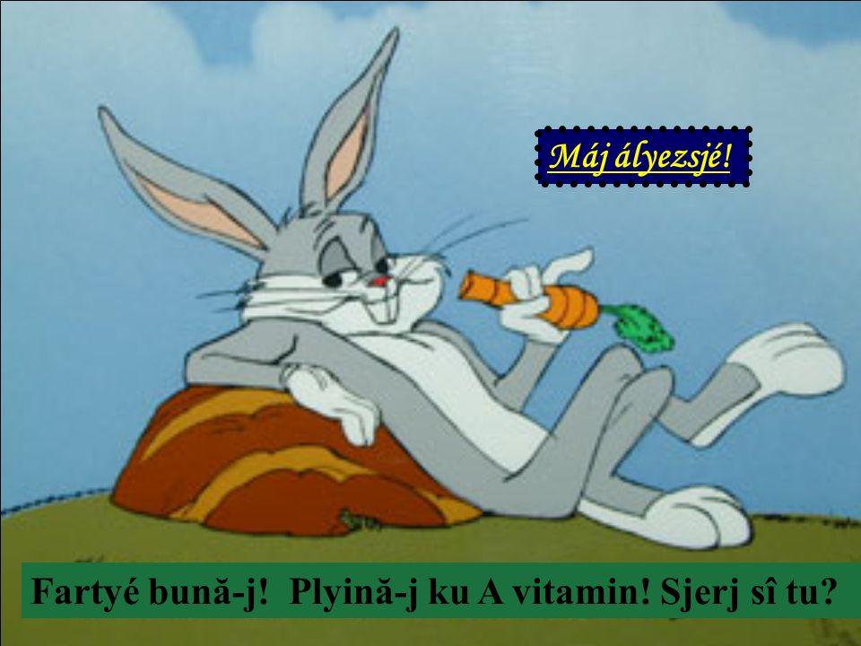 Fartyé bună-j! Plyină-j ku A vitamin! Sjerj sî tu? Máj ályezsjé!