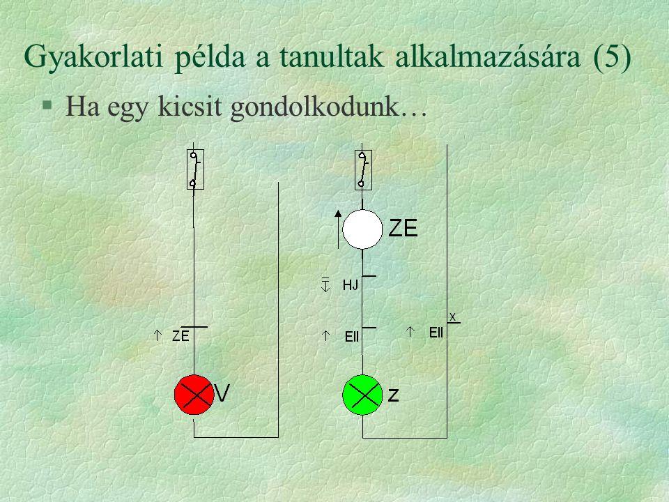 Gyakorlati példa a tanultak alkalmazására (5) §Ha egy kicsit gondolkodunk…