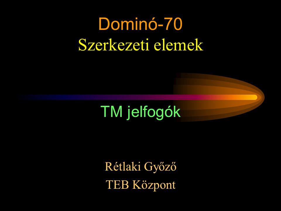 Rétlaki Győző: D70 szerkezeti elemek Dominó-70 Szerkezeti elemek Rétlaki Győző TEB Központ TM jelfogók