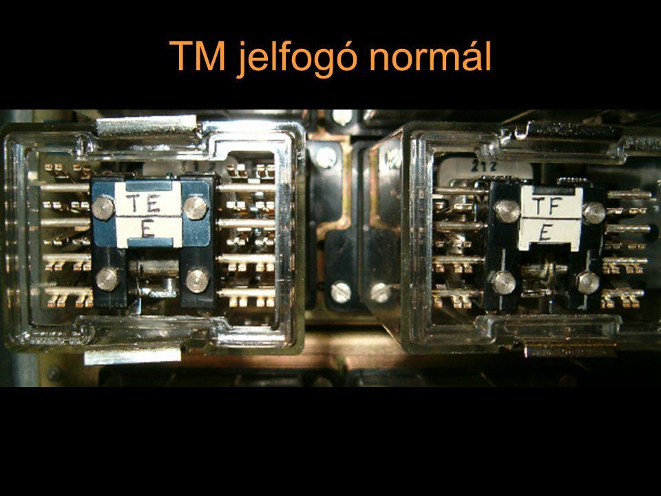 Rétlaki Győző: D70 szerkezeti elemek TM jelfogó iker 2 * 10 érintkező (normál, hasított, 2 pogácsa) 8-10 normál + 6 erősáramú érintkező (ÁÁ) 1 - 2 tekercses cséve
