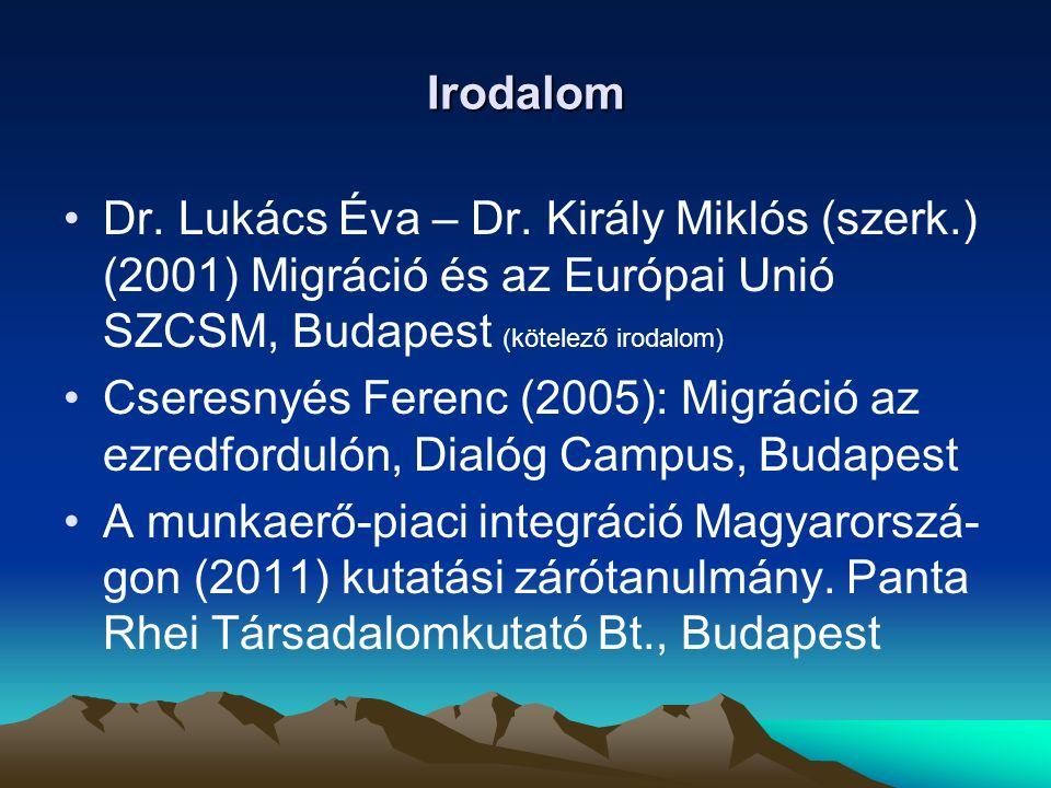 Fogalmi megközelítés Migráció: lakóhely változtatás, költözés, vándorlás A belső migráció az egy adott országon belüli népességmozgásokat (pl.