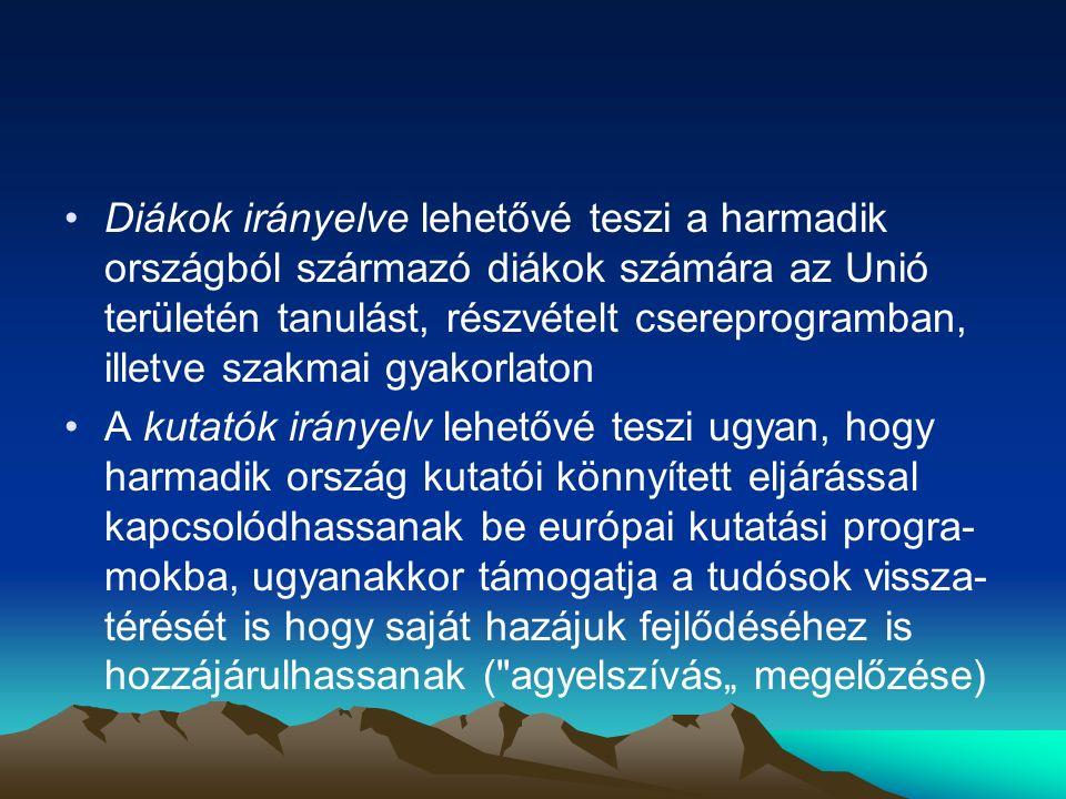 A Hágai Program (2004) A 2004-ben elfogadott program öt évre tíz, a szabadságon, biztonságon és a jog ér- vényesülésén alapuló térség megerősíté- se céljából Legfontosabb új eleme az ún.