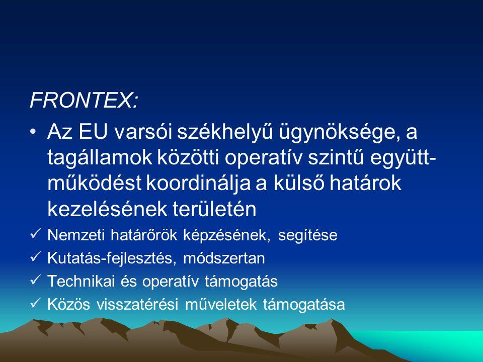 A Hágai Program után A Hágai Program 2009-ben befejeződött, az új koncepció szerint legfontosabb célok: - az uniós határok biztosítása - a nagyobb szabadság, mobilitás biztosítása - egyidejűleg a határon átnyúló bűnözés és - az illegális bevándorlás visszaszorítása