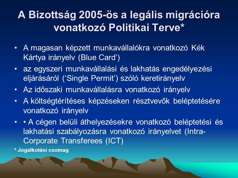 A Kék Kártya 2011-ben lépett hatályba A Kék Kártya egy elfogadott EU szintű munkavállalási engedély (Council Direc- tive 2009/50/EC), amely a magasan képzett nem EU állampolgárok munka- vállalását teszi lehetővé bármely ország- ban az Unión belül (kivéve Dániát, Írorszá- got és az Egyesült Királyságot)