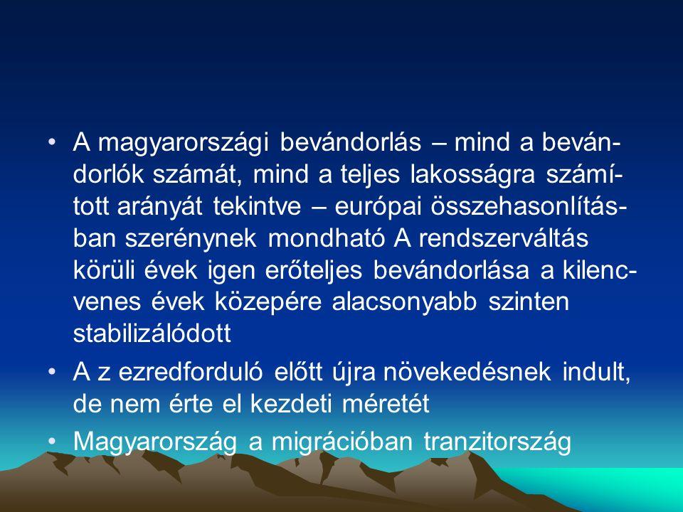 Magyarországra irányuló migráció A globalizációs folyamat kiteljesedése a közép- kelet európai térségben; Az európai integráció előrehaladása, Magyarország európai uniós csatlakozása; A magyar gazdaság és társadalom változásai; Az elmúlt másfél évtized kérdéskörre vonatkozó kormányzati politika és jogalkotás; A munkavállaló migránsok felgyülemlett tapasz- talata tudása, hálózatok kiépülése