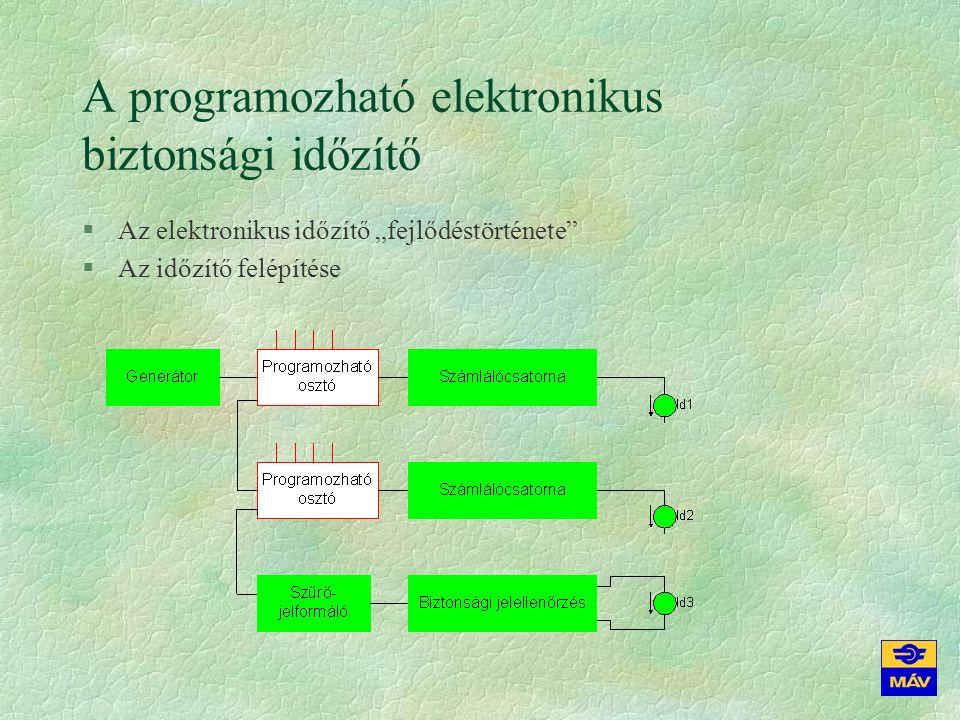 """A programozható elektronikus biztonsági időzítő §Az elektronikus időzítő """"fejlődéstörténete §Az időzítő felépítése"""