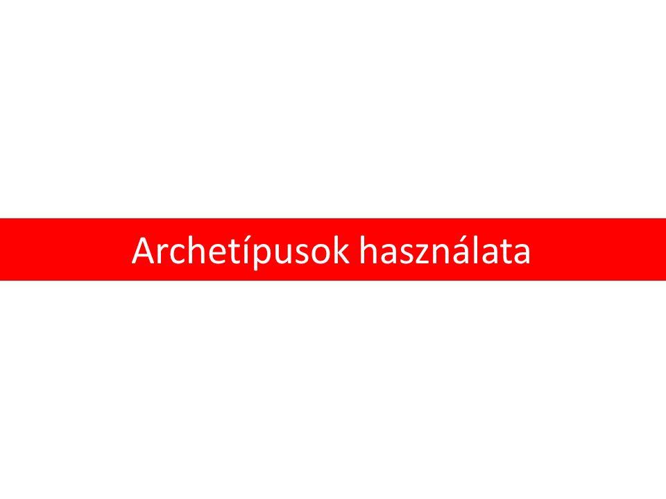 Archetípusok használata
