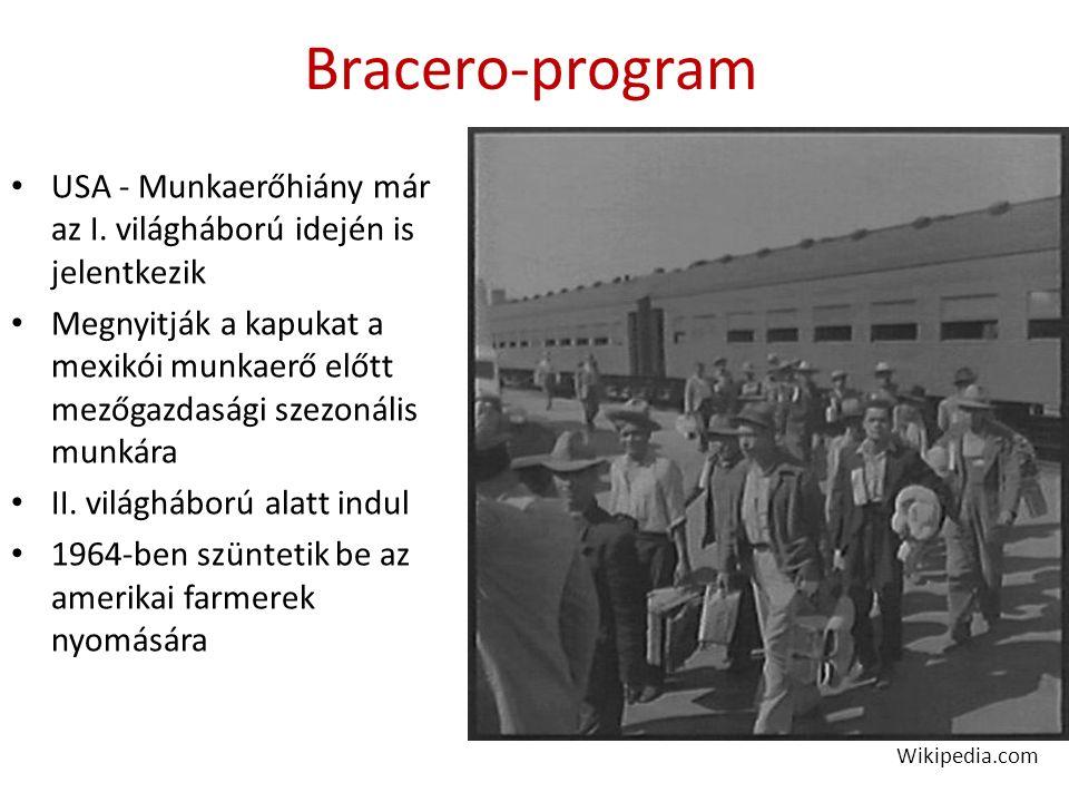 Bracero-program USA - Munkaerőhiány már az I.