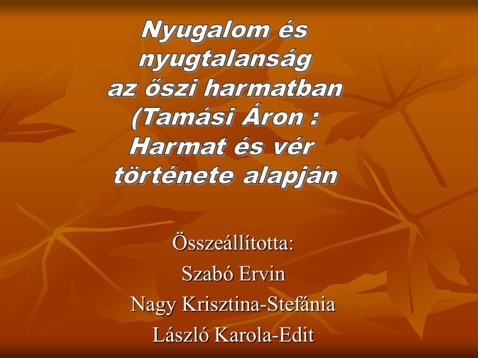 Összeállította: Szabó Ervin Nagy Krisztina-Stefánia László Karola-Edit
