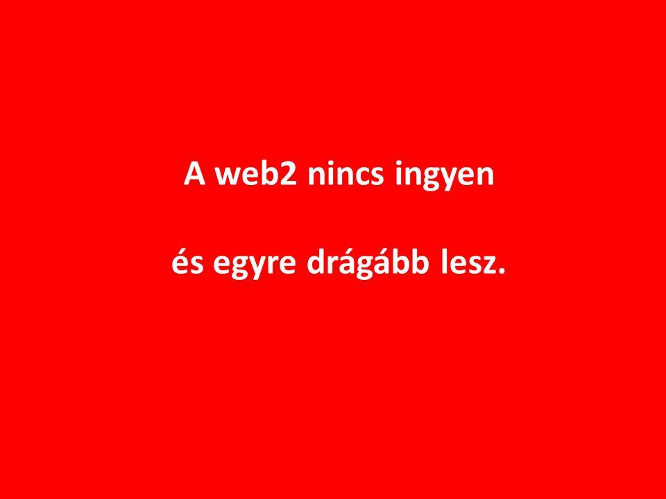 A web2 nincs ingyen és egyre drágább lesz.