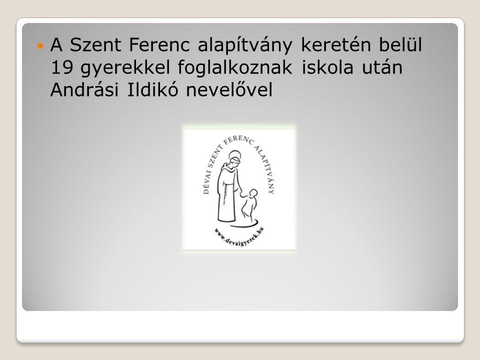 A Szent Ferenc alapítvány keretén belül 19 gyerekkel foglalkoznak iskola után Andrási Ildikó nevelővel