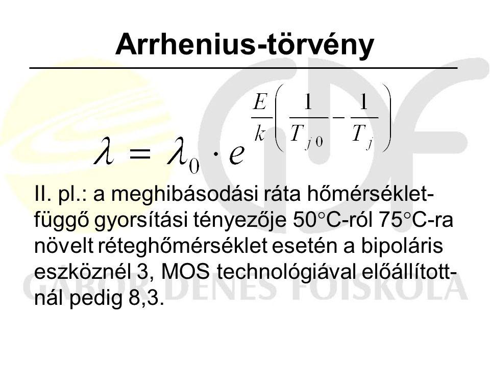 Arrhenius-törvény II.
