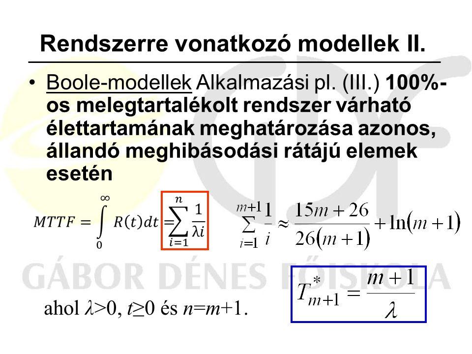 Boole-modellek Alkalmazási pl.
