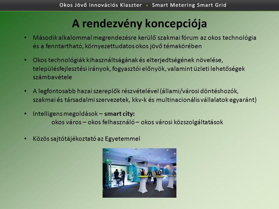 A rendezvény koncepciója Második alkalommal megrendezésre kerülő szakmai fórum az okos technológia és a fenntartható, környezettudatos okos jövő témak