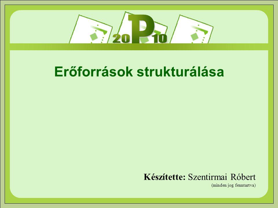 Erőforrások strukturálása Készítette: Szentirmai Róbert (minden jog fenntartva)