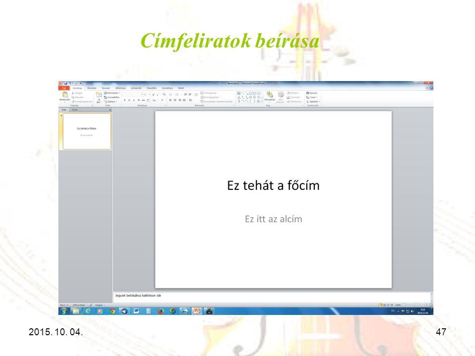 Címfeliratok beírása 2015. 10. 04.47