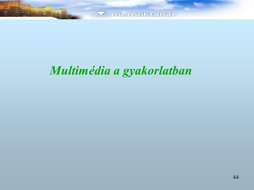 Multimédia a gyakorlatban 44