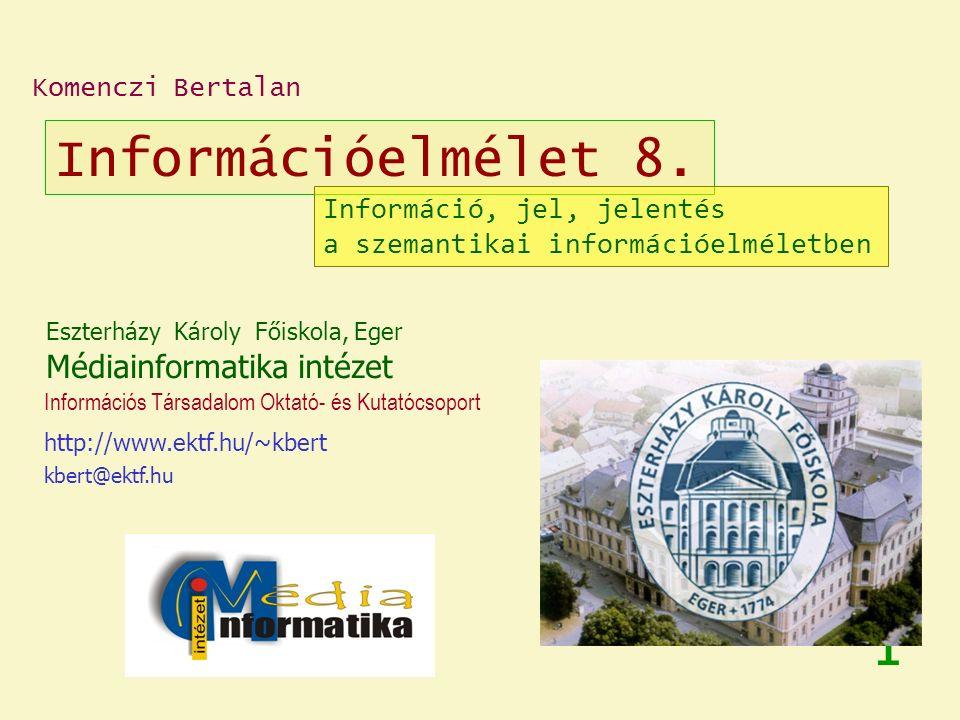 Információelmélet 8.