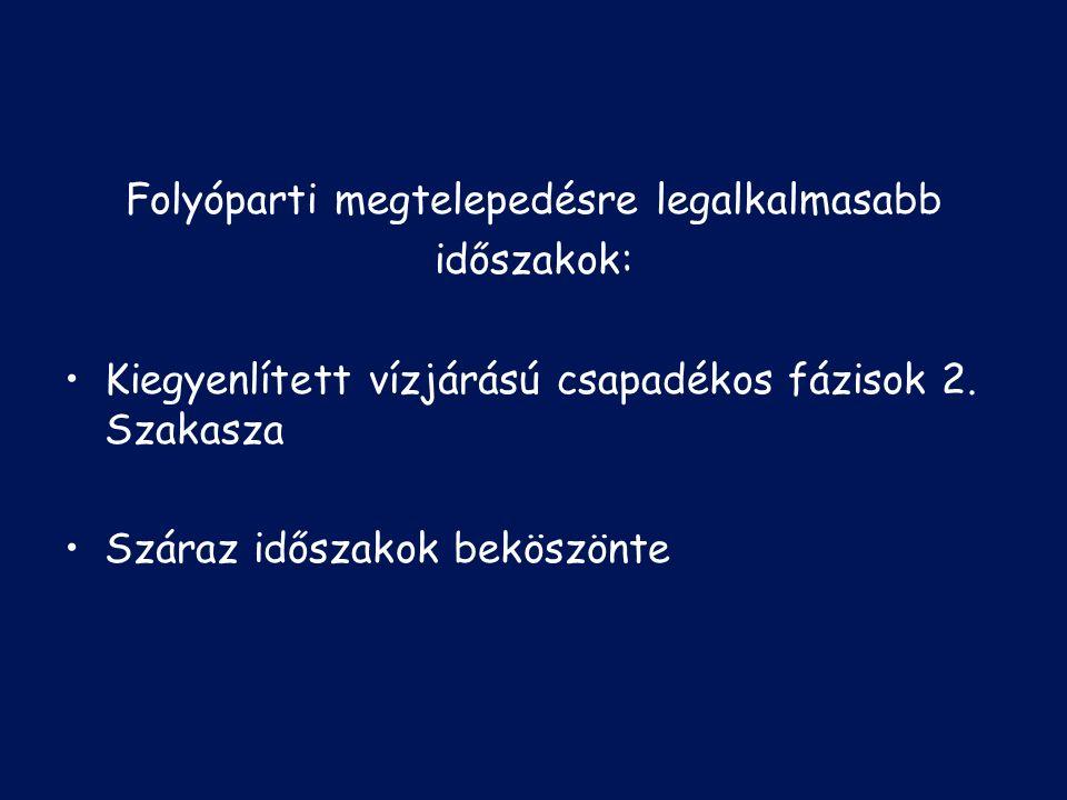 Településtörténeti vizsgálatok a Duna mentén 1.Kalocsai Sárközben végzett vizsgálatok: Eredmények nedvességgörbén ábrázolva Nagyfokú egyezés Arvicola-humiditás görbével