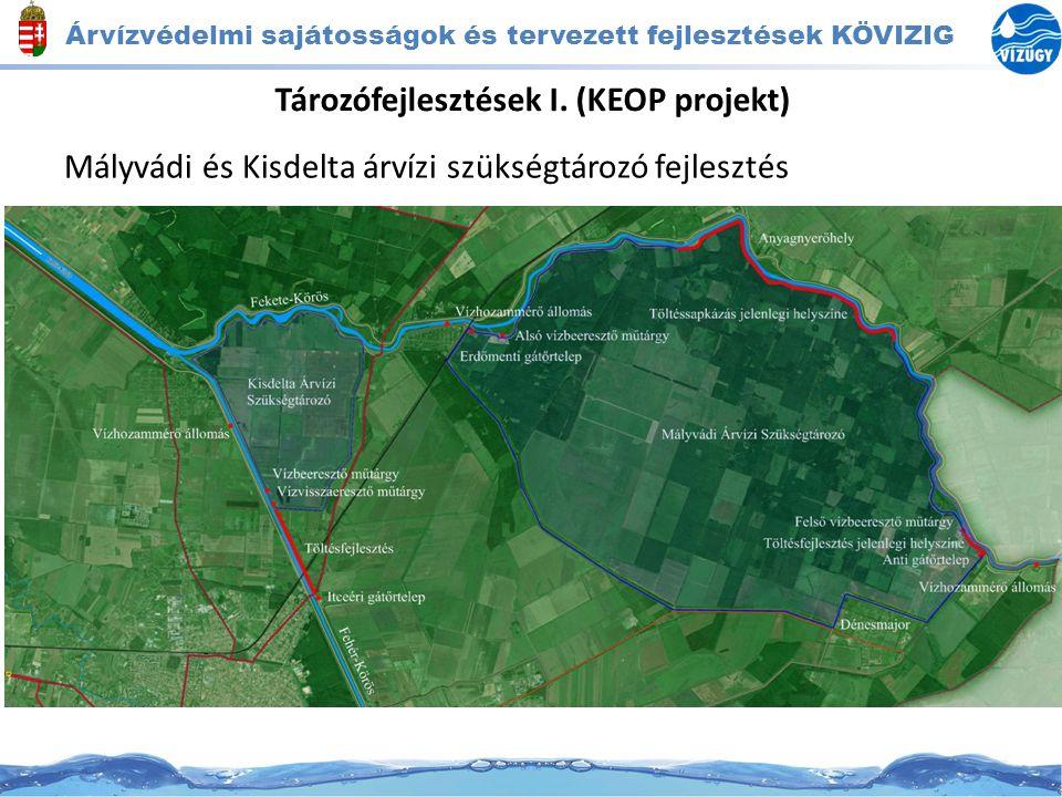 Tározófejlesztések I. (KEOP projekt) Mályvádi és Kisdelta árvízi szükségtározó fejlesztés