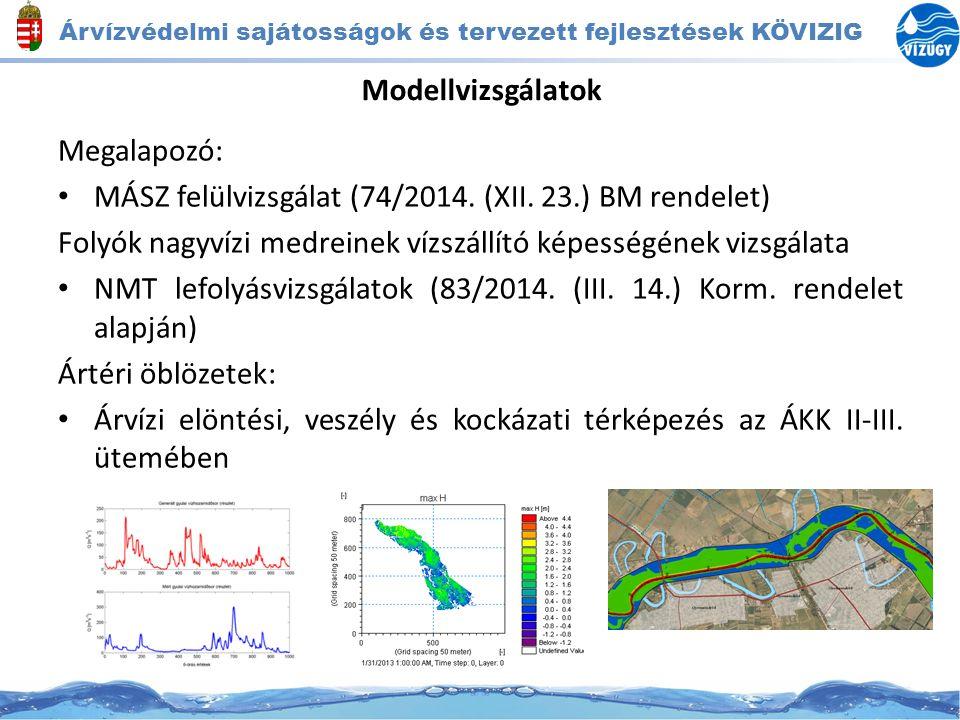 Árvízvédelmi sajátosságok és tervezett fejlesztések KÖVIZIG Intézkedések -Árvízvédelmi művek MÁSZ + 1 m-re történő kiépítése -Geotechnikailag problémás töltésszakaszok megerősítése -Nagyvízi mederkezelési tervekben meghatározott beavatkozások (művelési ág, növényzet átalakítás, fenntartási előírások változtatása, terepi terelőművek építése)