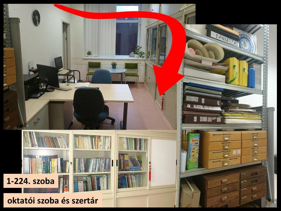 oktatói szoba és szertár 1-224. szoba