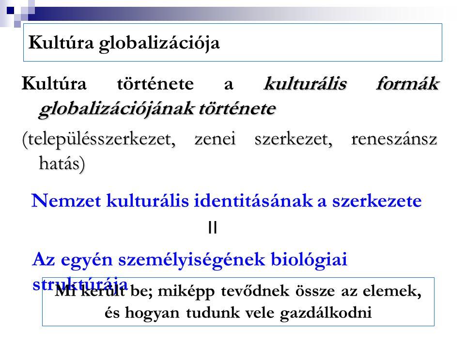 Kultúra globalizációja kulturális formák globalizációjának története Kultúra története a kulturális formák globalizációjának története (településszerk