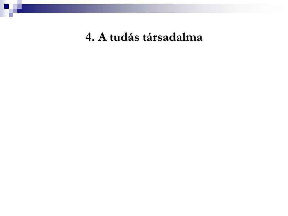 4. A tudás társadalma 4. A tudás társadalma