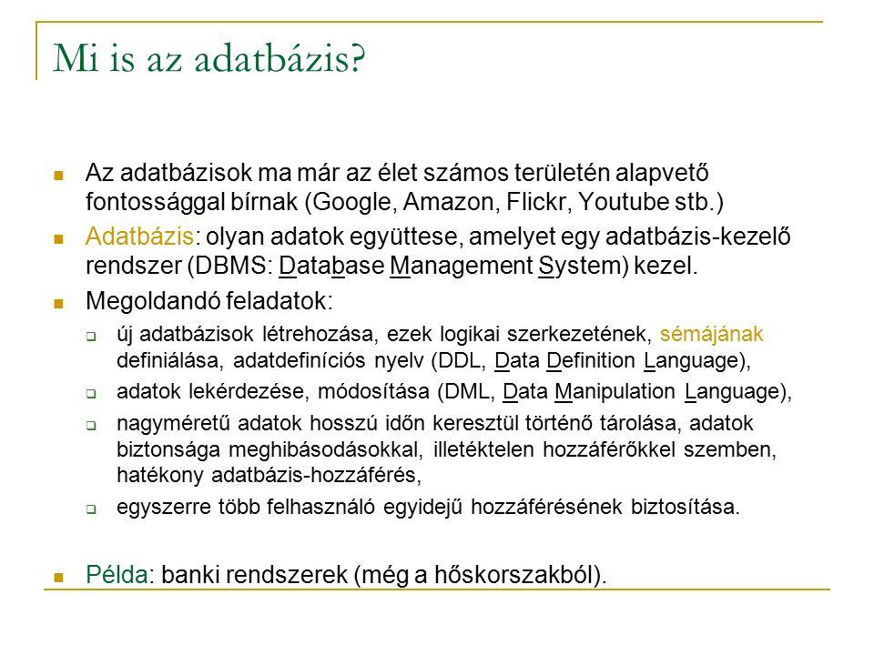 Mi is az adatbázis.