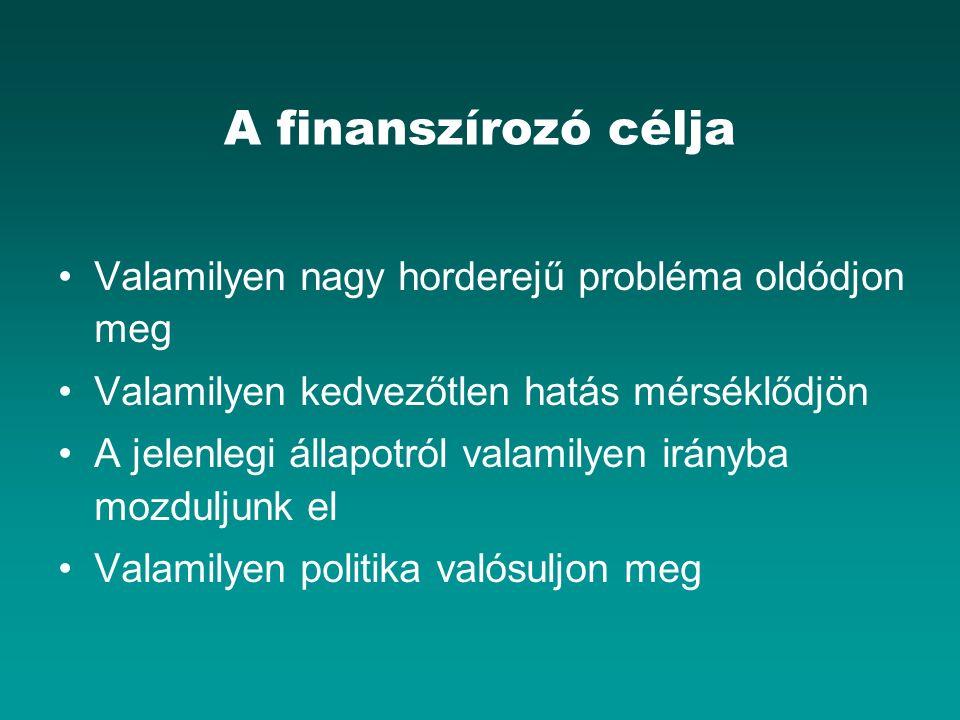Közreműködő szervezet Megpróbálja megszerezni a megbízást (pl.