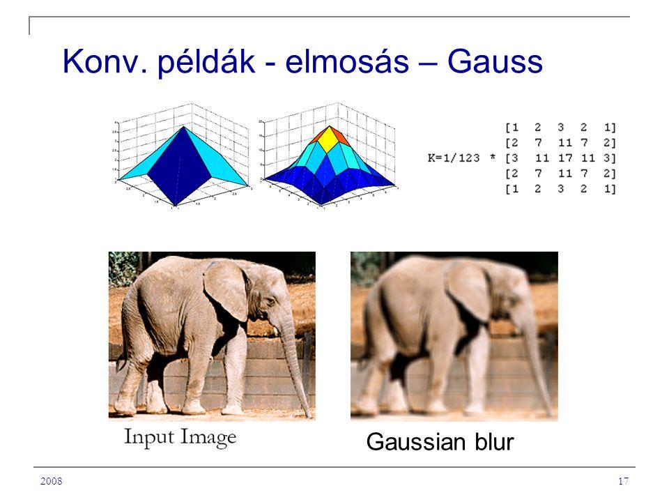 200817 Konv. példák - elmosás – Gauss Gaussian blur
