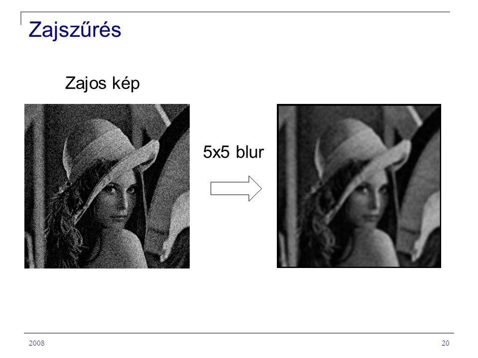 200820 Zajszűrés 5x5 blur Zajos kép