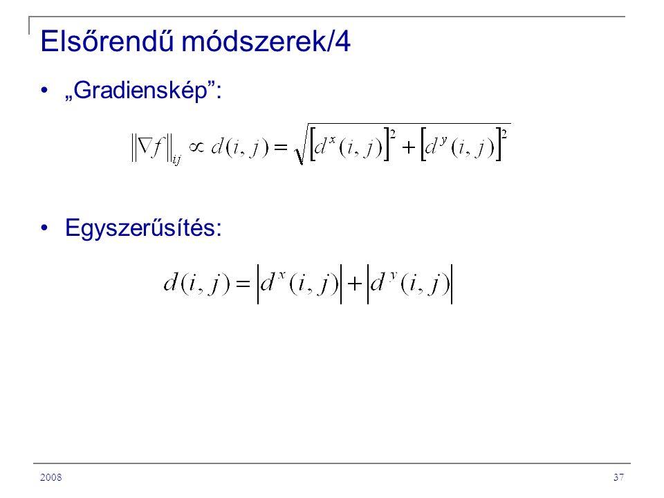 """200837 Elsőrendű módszerek/4 """"Gradienskép : Egyszerűsítés:"""