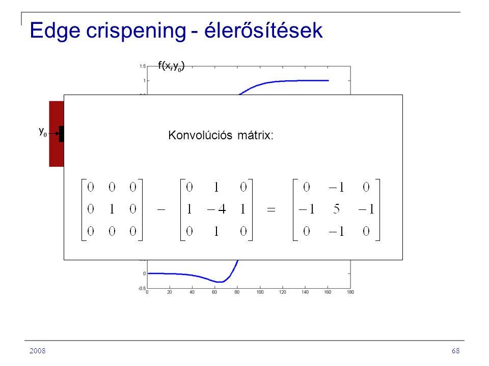 200868 Edge crispening - élerősítések Konvolúciós mátrix: