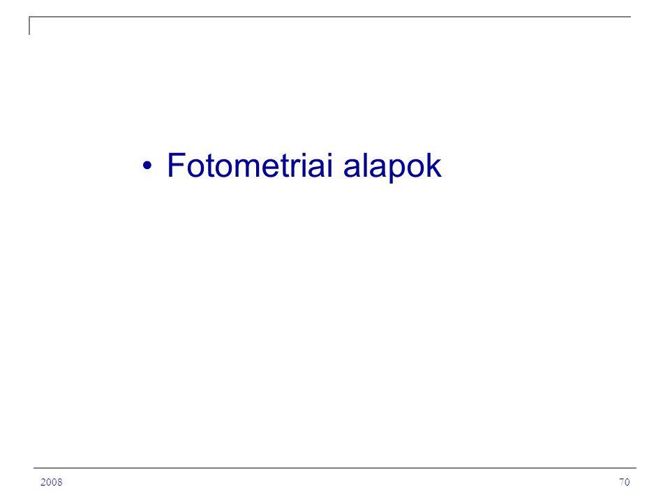 200870 Fotometriai alapok