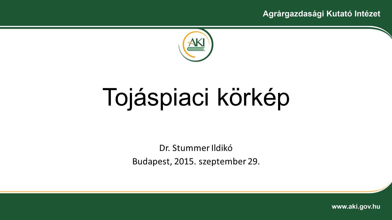 Tojáspiaci körkép Dr. Stummer Ildikó Budapest, 2015. szeptember 29.