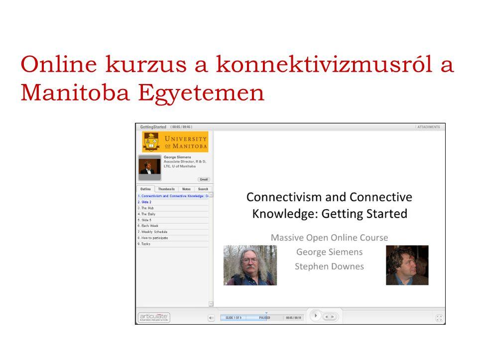 Online kurzus a konnektivizmusról a Manitoba Egyetemen
