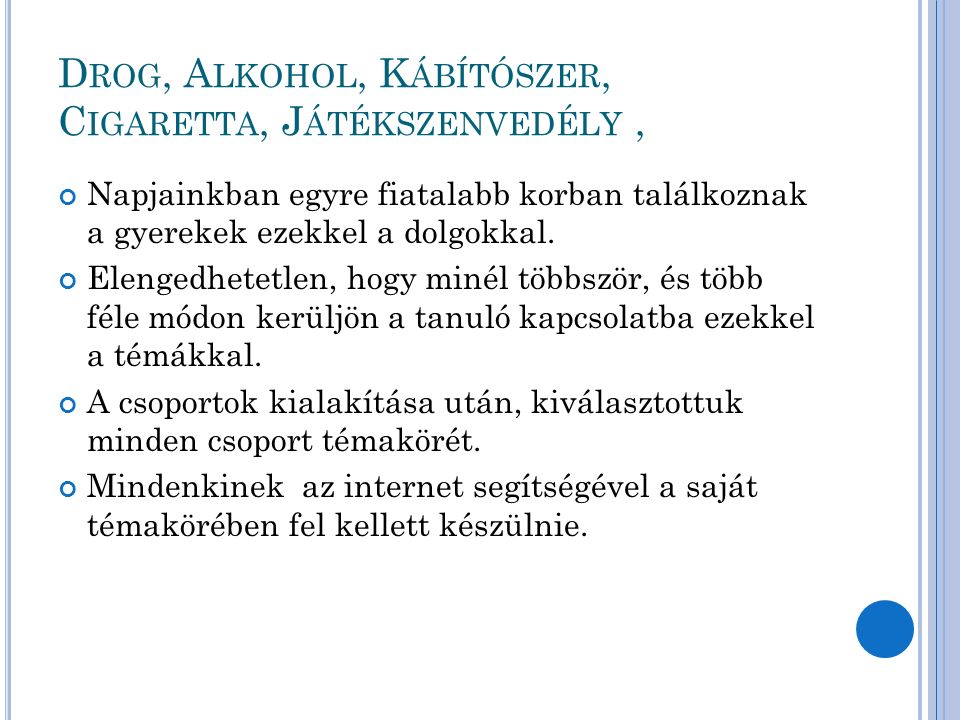 T ANULÓI KISELŐADÁS
