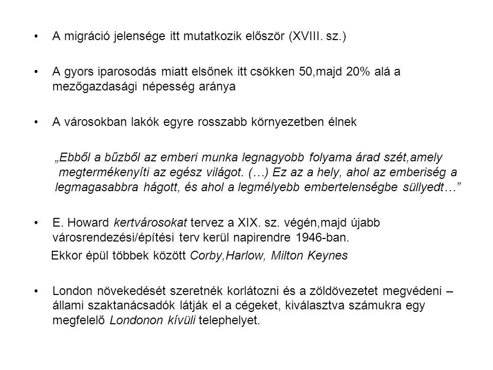A migráció jelensége itt mutatkozik először (XVIII.