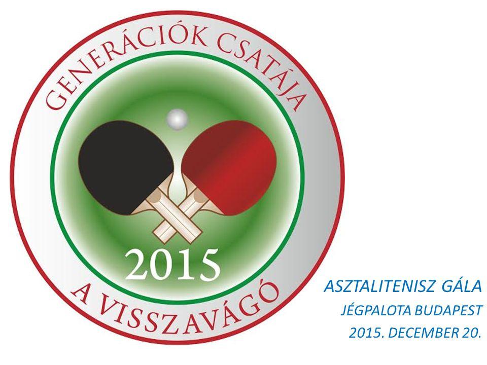 ASZTALITENISZ GÁLA JÉGPALOTA BUDAPEST 2015. DECEMBER 20.