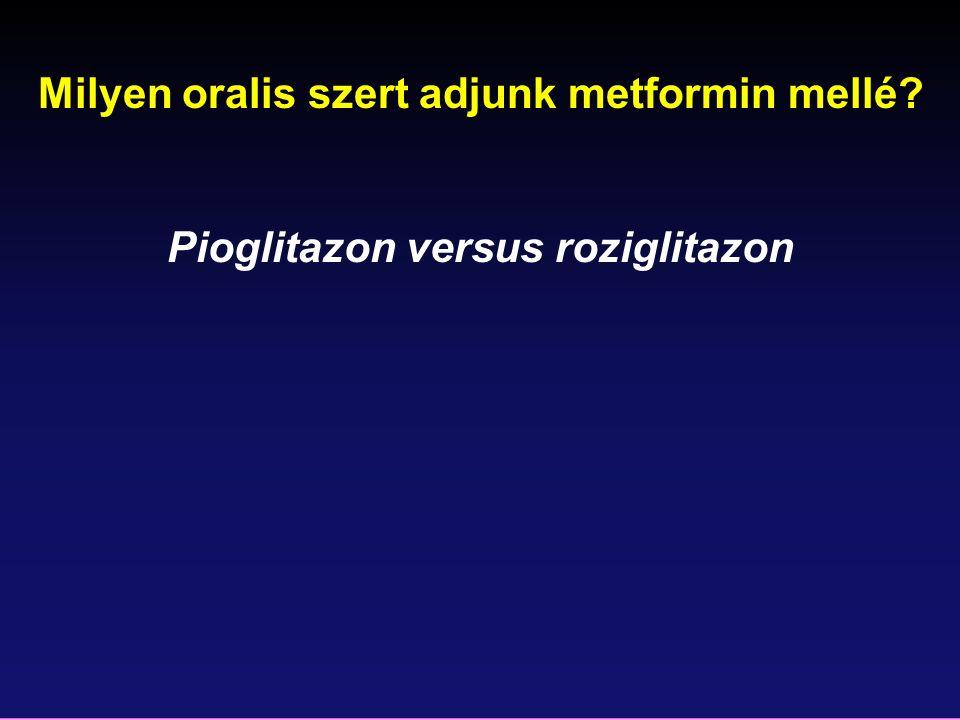 Milyen oralis szert adjunk metformin mellé? Pioglitazon versus roziglitazon
