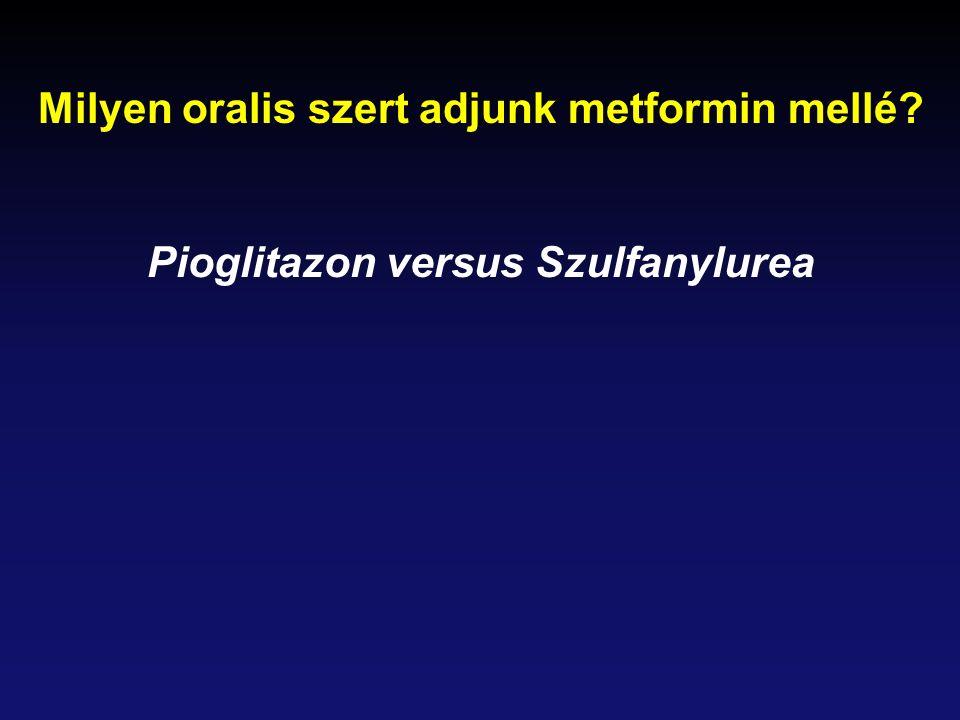 Milyen oralis szert adjunk metformin mellé? Pioglitazon versus Szulfanylurea