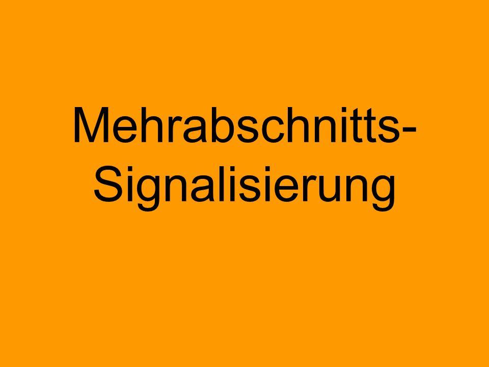 Einabschnittssignalisierung Mehrabschnittssignalisierung H/V Hp L ÖBB L(K) N Ks E Reine Zugfolgesignalisierung Zugfolgesignalisierung mit integrierter Geschwindigkeitssignalisierung OSShD SYSTEM v1 … v4 vmax H+V vereinigt Blinklicht Einlichtsystem
